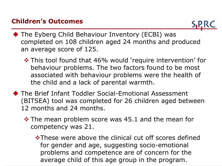 Children's Outcomes