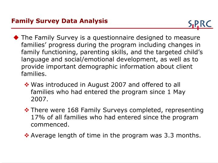 Family Survey Data Analysis