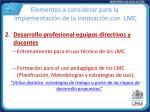 elementos a considerar para la implementaci n de la innovaci n con lmc1