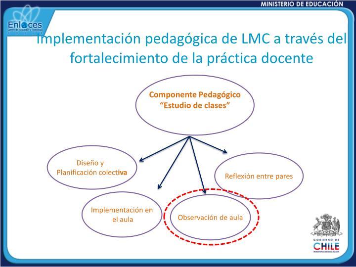 Implementación pedagógica de LMC a través del fortalecimiento de la práctica docente