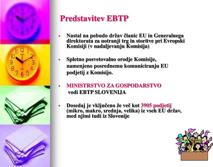 Predstavitev EBTP