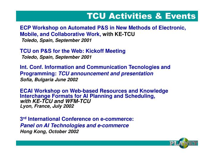 TCU Activities & Events