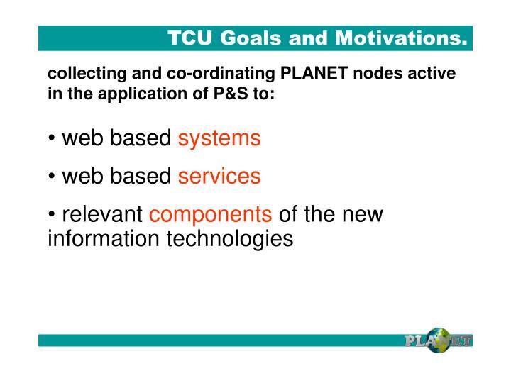 TCU Goals and Motivations.