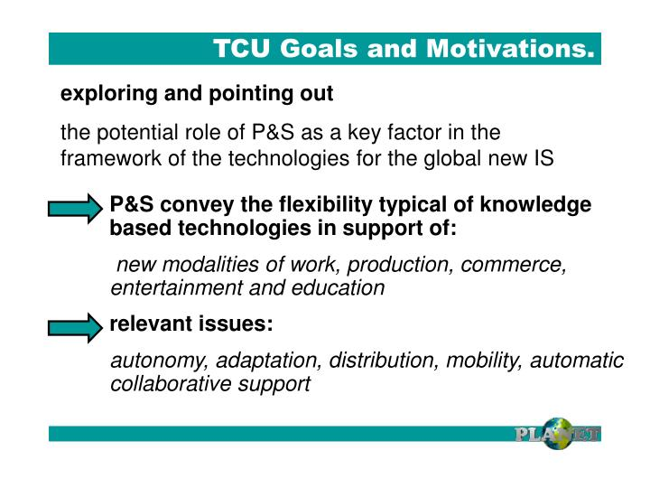 Tcu goals and motivations1