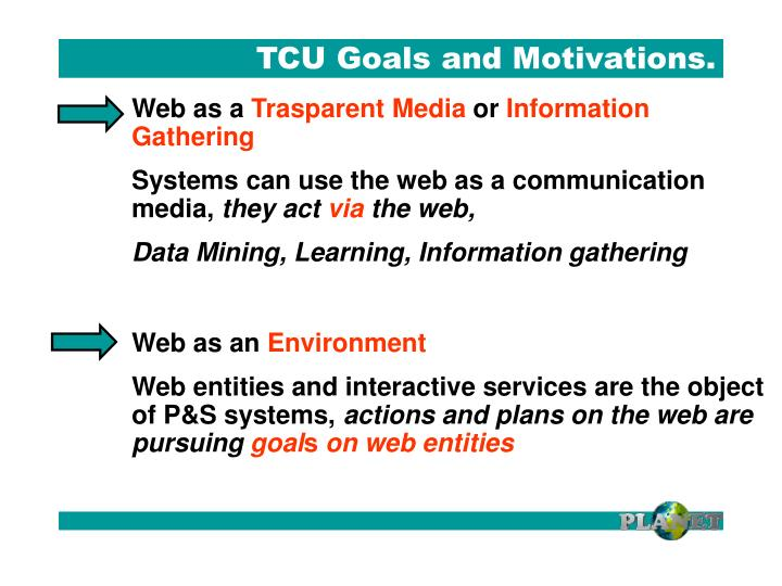 TCU Goals and Motivations.