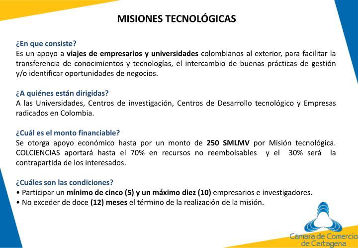 MISIONES TECNOLÓGICAS