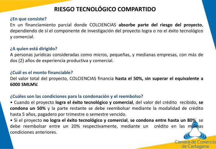 RIESGO TECNOLÓGICO COMPARTIDO