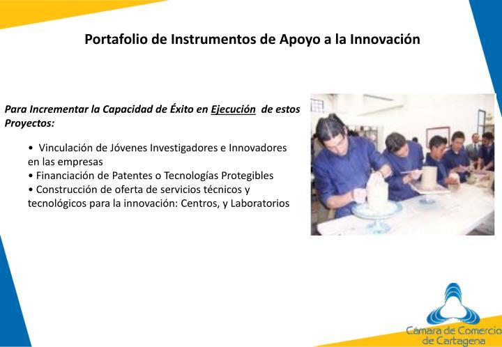 Portafolio de Instrumentos de Apoyo a la Innovación