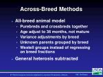 across breed methods