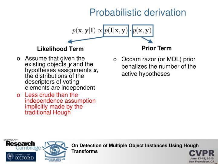Probabilistic derivation