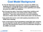 cost model background