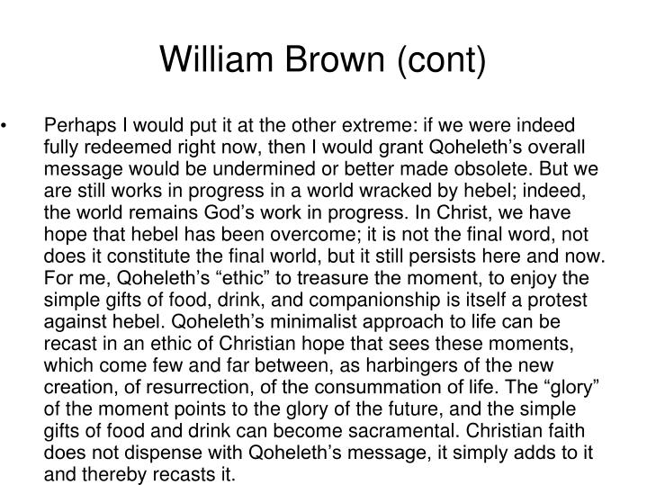 William Brown (cont)