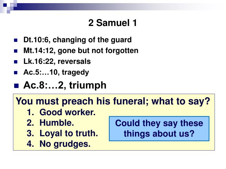 2 Samuel 1