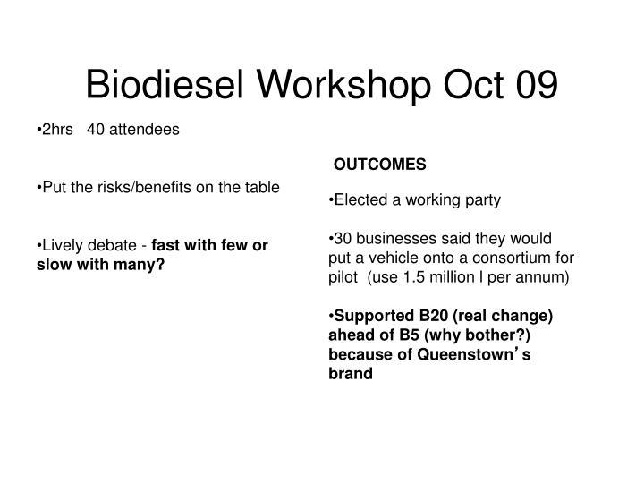 Biodiesel Workshop Oct 09