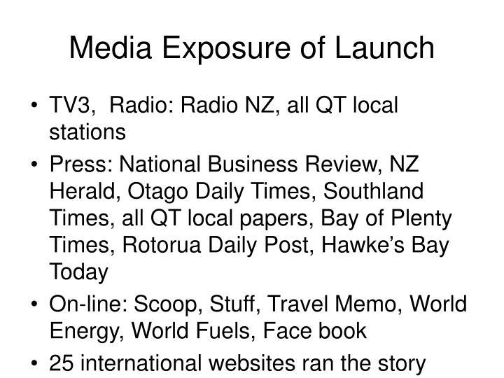 Media Exposure of Launch