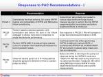 responses to pac recommendations i
