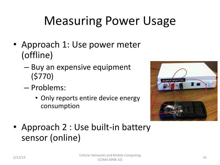 Measuring Power Usage