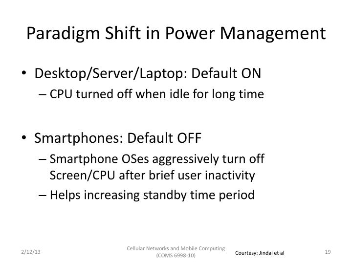 Paradigm Shift in Power Management