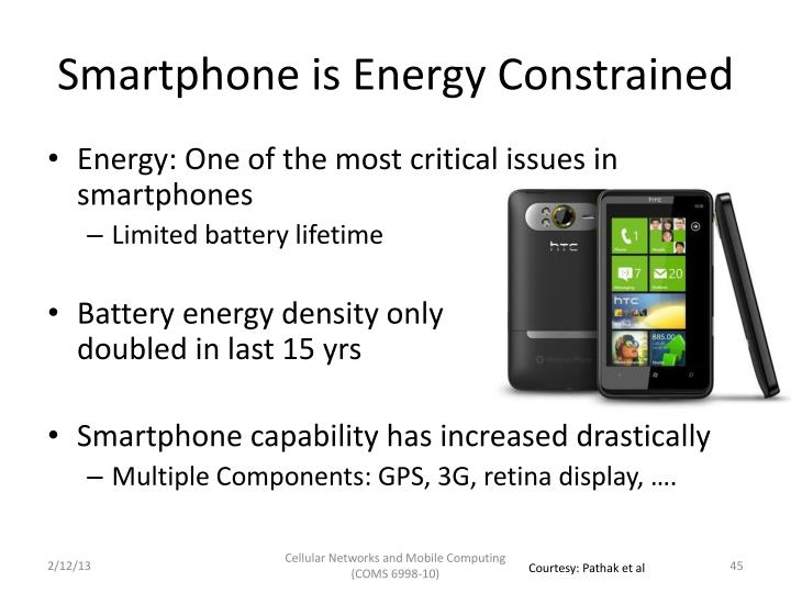 Smartphone is Energy Constrained