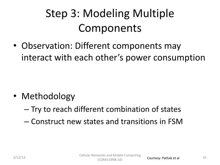 Step 3: Modeling Multiple Components