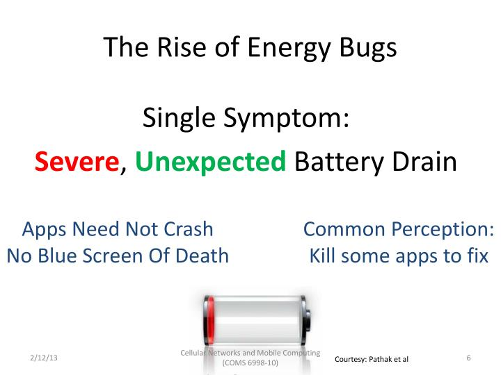 The Rise of Energy Bugs