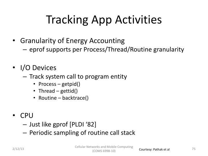 Tracking App Activities
