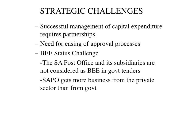 STRATEGIC CHALLENGES