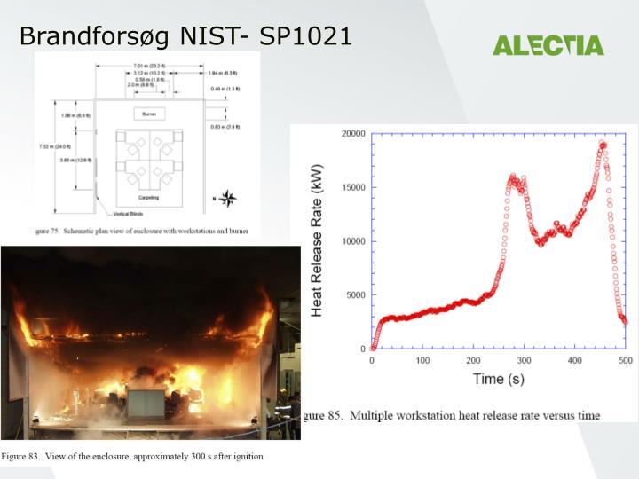 Brandforsøg NIST- SP1021