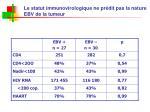 le statut immunovirologique ne pr dit pas la nature ebv de la tumeur