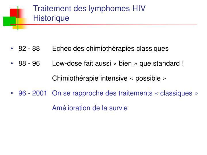Traitement des lymphomes HIV