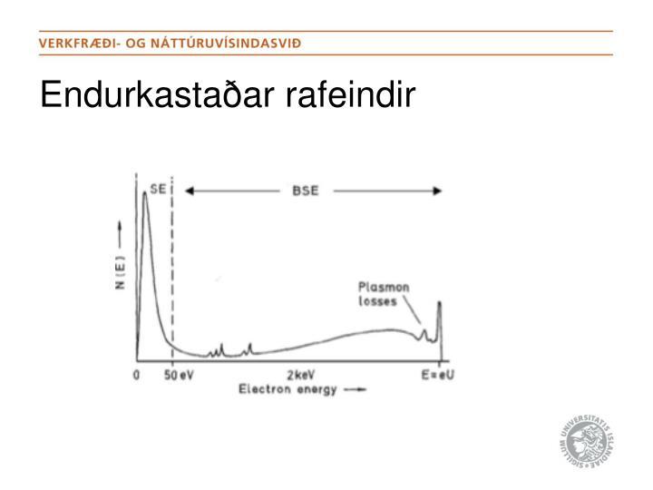 Endurkastaðar rafeindir