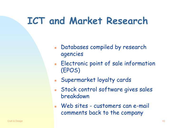 ICT and Market Research