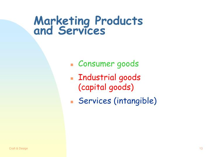 Marketing Products and Services