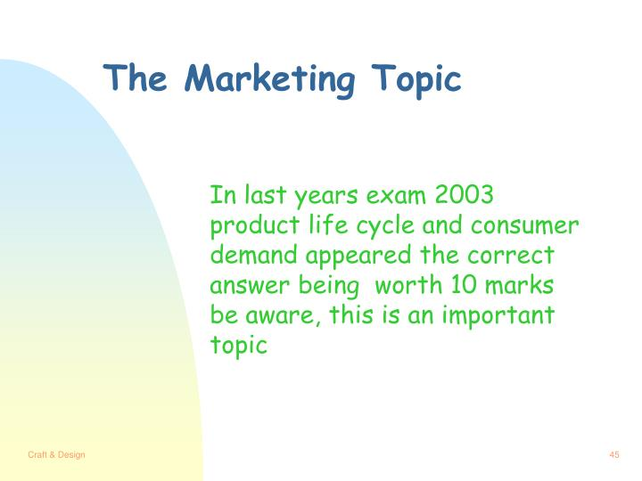 The Marketing Topic