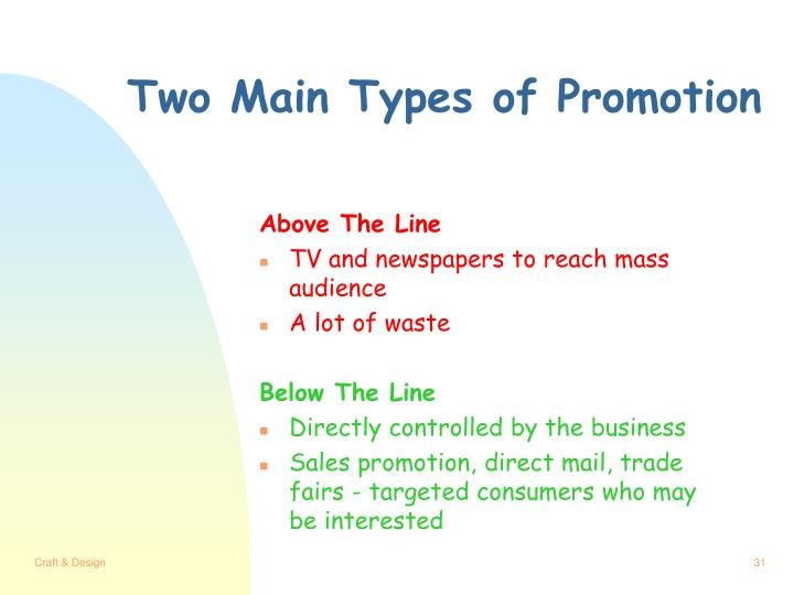 Two Main Types of Promotion