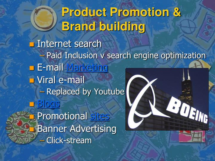 Product Promotion & Brand building