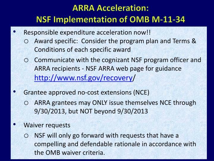 ARRA Acceleration: