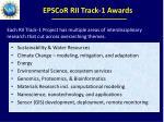 epscor rii track 1 awards