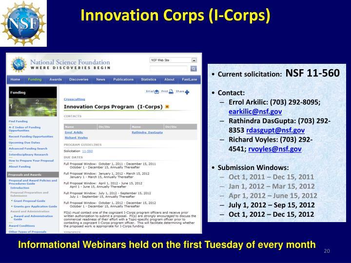 Innovation Corps (I-Corps)