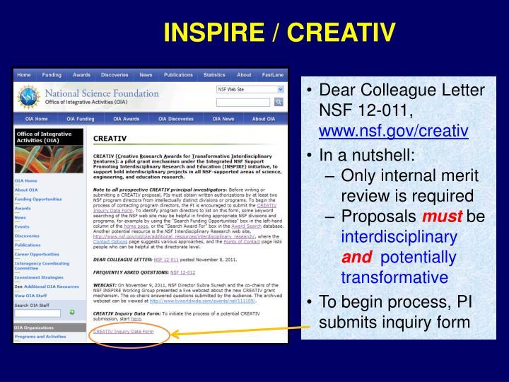 INSPIRE / CREATIV