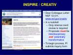 inspire creativ