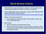 merit review criteria