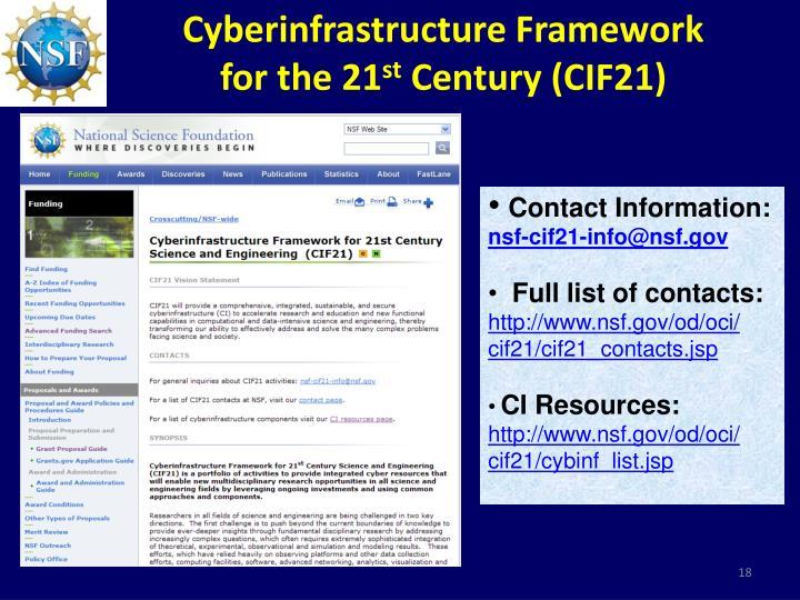 Cyberinfrastructure Framework
