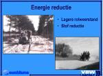 energie reductie