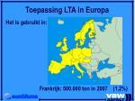 toepassing lta in europa