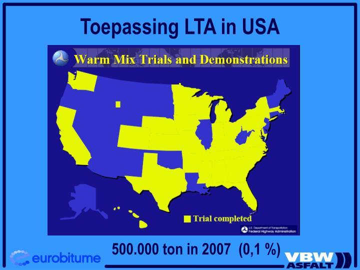 Toepassing LTA in USA