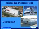 voorbeelden energie reductie