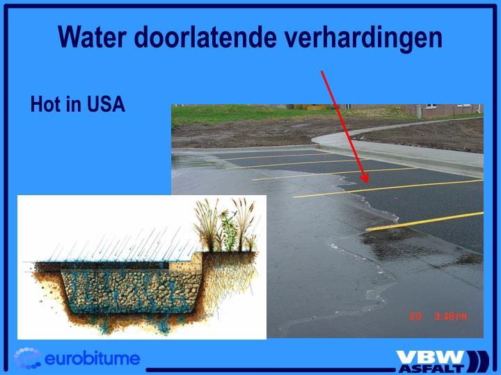 Water doorlatende verhardingen