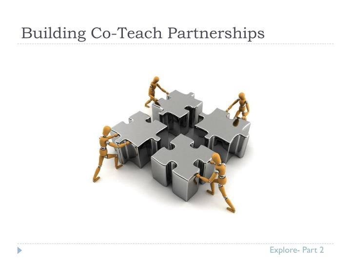 Building Co-Teach Partnerships