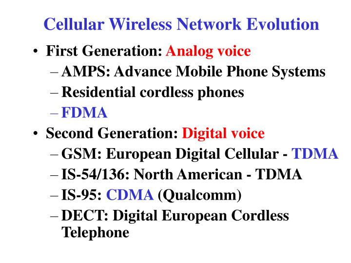 Cellular Wireless Network Evolution